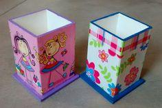 Resultado de imagen para cajas fibrofacil pintadas en acrilico
