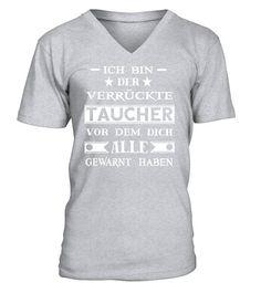 098c1275d7e936 Der verrückte Taucher - LIMITIERT - V-Ausschnitt T-Shirt Unisex  Shirts