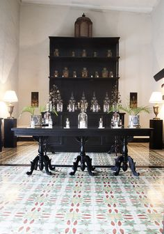 Eclectic Retail Store Design - The lobby and perfumery of hotel Coqui Coqui in Valladolid, Mexico.