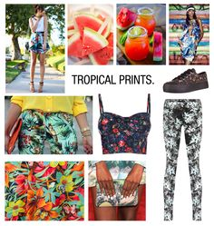 Tropical prints for spring Natural Candy, Pants Pattern, Spring Trends, One Design, Home Interior, Print Patterns, Tropical Prints, Fashion Ideas, Fashion Trends