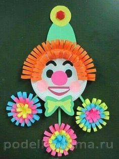 Circus Theme Crafts, Clown Crafts, Preschool Crafts, Crafts For Kids, Arts And Crafts, Paper Plate Crafts, Paper Plates, Preschool Weather, Clown Party