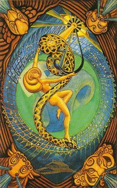 Aleister Crowley (Thoth) Tarot - XXI - The Universe