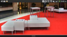 Love these pieces! Designed by Cort Furniture Events