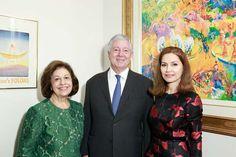 Their Royal HighnessesCrown Prince AlexanderandPrincess Katherine, and Jean Shafiroff