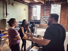 Summer interns Emily from Lesley University and Olivia from Boston University getting the lowdown from Engineering's Alex Enman with the RED Digital Cinema Helium with Brain and the Atlas Lens Co. Red Digital Cinema, Boston University, Anamorphic, Feature Film, Workplace, Documentaries, Lenses, Brain, This Is Us