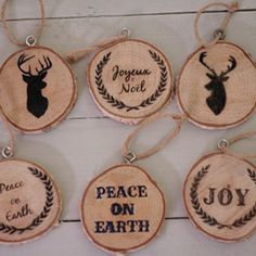 Wood Slice Ornaments: 10 Tutorials and Christmas Decorating Ideas - See all 10: http://www.familyhandyman.com/smart-homeowner/10-tutorials-and-christmas-decorating-ideas