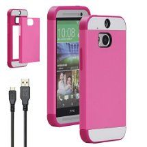 htc one m8 phone case for girls. for htc one m8 case, premium pu + tpu protective bumper case with 4.9 ft htc phone girls