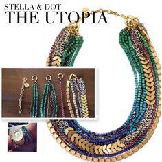 Hey gals!! Here's your #SDjoy of the day: I just really sat down to figure this beauty out The #Utopia necklace: 4 separate strands, & it can be worn long or short. So far I've counted 12+ ways to wear it as a necklace. AND some stylists are even wearing some of the strands as wrap bracelets... #Genius!! #ilovethisjob #stelladotstyle #utopianecklace  Half off this month too!
