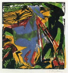 Schlemihls Entcounter with the Shadow - Ernst Ludwig Kirchner