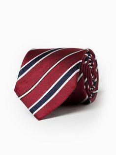 brooksfield men's silk tie  product code bftie222 red