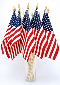 American Flag Centerpiece...(note to self, use a tall skinny vessel). from The New Home Ec