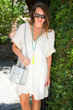 Southern Anchors - Mint Julep Boutique Dress with simple acessories