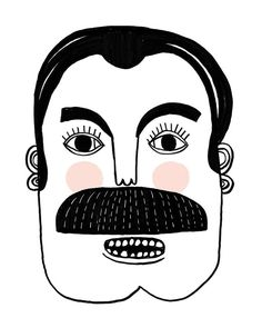 Mustache old timey man KevFred by Colin Walsh by Tigersheepfriends