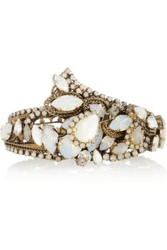 Erickson Beamon | Whiter Shade Of Pale Swarovski crystal gold-plated cuff |
