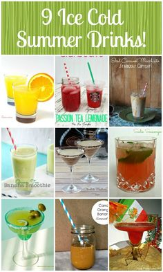 Whether you& having a party, a barbecue, or just want to cool down and enjoy the weather, these ice cold summer drink recipes are perfect! Non Alcoholic Drinks, Cold Drinks, Fun Drinks, Yummy Drinks, Summer Beverages, Beste Cocktails, Cocktails To Try, Halloween Cocktails, Daiquiri