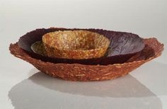 Geke Wouters' tableware made from pressed vegetable matter