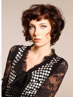 Chic Curly Haircut With Bang - If I was brave enough to go short,, this would be on the top 10