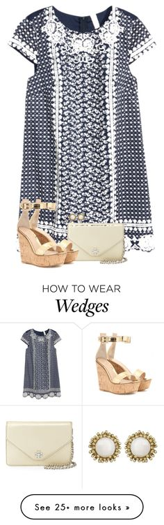 """""""// simplistic //"""" by preppybelle on Polyvore featuring H&M, Tory Burch, Gianvito Rossi and Kendra Scott"""