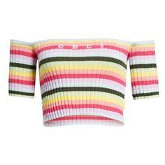Women's Obey Coco Stripe Off The Shoulder Top (810 ARS) ❤ liked on Polyvore featuring tops, orchid multi, off the shoulder tops, off-shoulder tops, striped off the shoulder top, embroidered off the shoulder top and stripe top