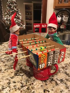All Things Christmas, Christmas Holidays, Awesome Elf On The Shelf Ideas, Elf On The Self, Elf Magic, Holiday Fun, Holiday Decor, Buddy The Elf, Holidays With Kids