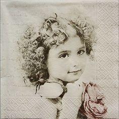 ペーパーナプキン(33)Sagen:(5枚)【1】フランスの少女