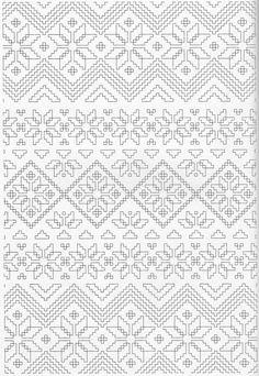 Scandinavian Coloring Book Pg 36 Pattern Coloring Pages, Coloring Pages To Print, Adult Coloring Pages, Coloring Sheets, Colouring Pics, Coloring Books, White Embroidery, Embroidery Patterns, Scandinavian Pattern