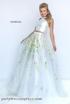 SHERRI HILL | PROM 2016 | IN STOCK TODAY **Sherri Hill Weekend 2/6-2/7 Get the chance to receive FREE ALTERATIONS** | Party Dress Express | 657 Quarry Street | Fall River, MA | partydressexpress.com #prom #promdress #twopiece #croptop