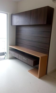 Here you will find photos of interior design ideas. Get inspired! Tv Unit Furniture Design, Tv Unit Interior Design, Bedroom Furniture Design, Modern Bedroom Design, Modern Interior Design, Tv Cabinet Design, Tv Wall Design, Bedroom Setup, Wardrobe Design Bedroom