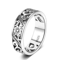 Our Celtic Garden 925 Sterling Silver Ring is made with 100% pure 925 Sterling Silver in a Celtic inspired floral design.  Features: 925 Sterling Silver Eco-friendly Sizes US6-10 Free shipping Ring Ring, Boho Rings, Jewelry Rings, Celtic Wedding Rings, Memorial Jewelry, Types Of Rings, Selling Jewelry, Silver Diamonds, Ring Designs