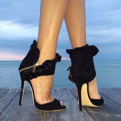The most perfect Choo combined with the most perfect view - I'm back where I belong.  #JimmyChoo 'Katarina'. - @upcloseandstylish- #webstagram