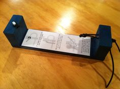 Quick and easy paracord jig with instruction sheet for cub scouts