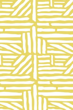 Driftwood - Geometric Citron Yellow by heatherdutton