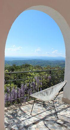 Wish you were here?  Our porch at Villa degli Armeni, villa for rent in the Sabina, near Rome, Lazio, Italy  .................  Villa degli Armeni: private villa rental Italy