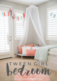 Surprise Tween and Teenage Girl Bedroom Ideas [+Makeover]     Teenage Girl Bedroom Ideas diy, small, dream rooms, decoration, teal, purple, gray  #LaundryRoomIdeas #KitchenIsland #ConcreteCountertops #PalletProjects #ManCaveIdeas