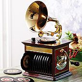 Holiday Replica Gramophone Music Box