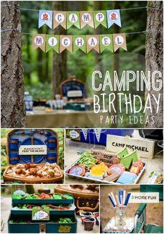 Boy's Camping BIrthday Party Ideas