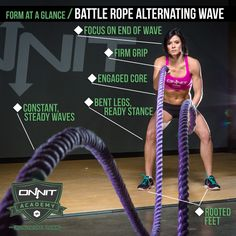 Form At A Glance Battle Rope Alternating Wave Battle Rope Workout Fitness Body Workout