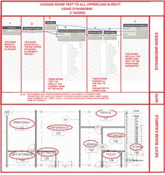 Simply Complex: CHANGE ROOM TEXT IN REVIT TO UPPER CASE USING DYNAMOBIM