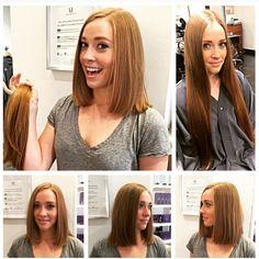 Before and after! Chopped! Long hair to short hair! Diagonal forward ...