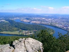 Moccasin Bend, Tennessee River, from   Lookout Mountain