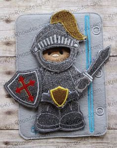 Quiet Book - Knight in armor dress up