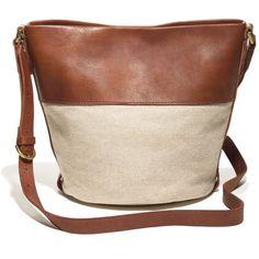 MADEWELL The Bucket Bag ($138) ❤ liked on Polyvore