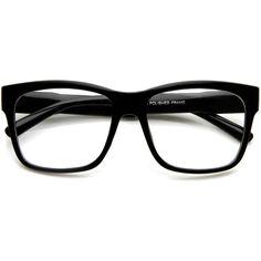 eb5f6c443ebc Large Retro Clear Lens Nerd Hipster Horned Rim Glasses 8789 ( 9.99) ❤ liked  on