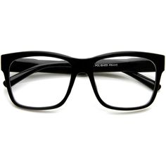 Large Retro Clear Lens Nerd Hipster Horned Rim Glasses 8789 found on Polyvore