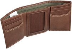 Levi's Men's Trifold Wallet, Black, One Size at Amazon Men's Clothing store: Trifold Leather Wallet