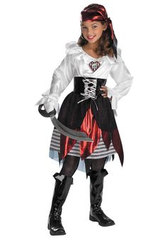 Kids Pirate Costume Tutorial http://greathalloweencostumes.org/