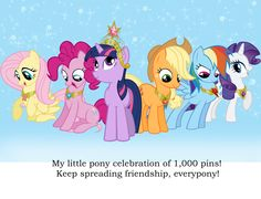 1,000 Pictures of MLP, Celebration! I now have 1,000 pins of mlp!