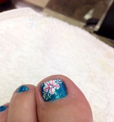 This was a design done based on the cherry blossom. Happy Nails, Lacey, WA