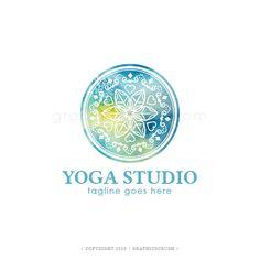 OOAK Mandala Logo Watercolor Mandala Logo Yoga Logo