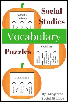 These vocabulary puzzles can be used in US history, European history, Asian history, world history, AP world history, economics, or government classes because it isn't subject specific. It is high-frequency social studies words that can be used in every social studies class. The best part is that there are 117 puzzles. Check out my TpT store for more details! #tpt #teacherspayteachers #historygames #puzzles #socialstudies